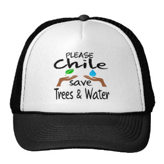 Plz Chile Save Tree & Water Mesh Hats