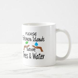Plz Solomon Islands Save Tree & Water Coffee Mugs