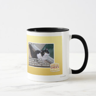 Plz to open door mug