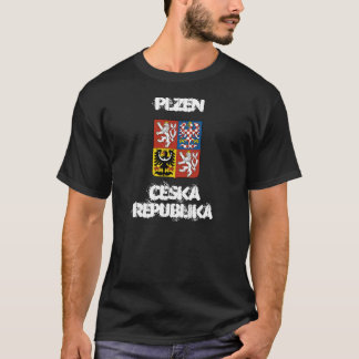 Plzen, Ceska Republika with coat of arms T-Shirt