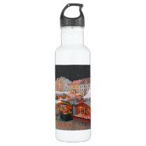 Plzen - Christmas Market Lights - HH Water Bottle