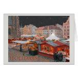 Plzen - luces del mercado del navidad - HH Tarjetón