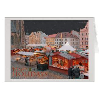 Plzen - luces del mercado del navidad - HH Tarjeta De Felicitación