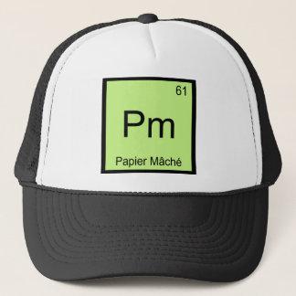 Pm - Papier Mache Chemistry Element Symbol Craft T Trucker Hat