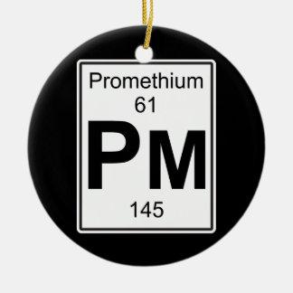 Pm - Promethium Ceramic Ornament