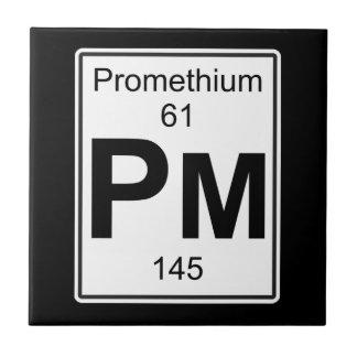 Pm - Promethium Ceramic Tile