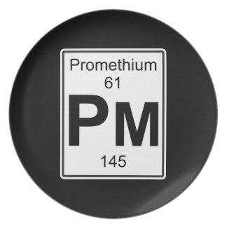 Pm - Promethium Dinner Plate