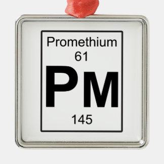 Pm - Promethium Metal Ornament