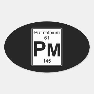 Pm - Promethium Oval Sticker