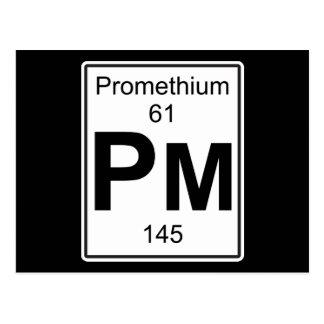 Pm - Promethium Postcard