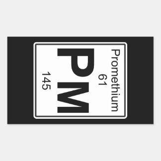 Pm - Promethium Rectangular Sticker