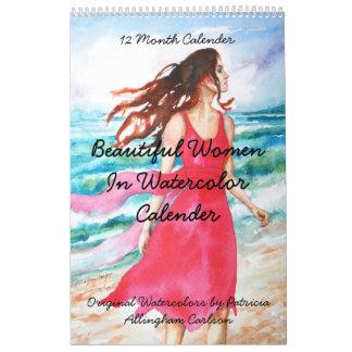 PMACarlson Beautiful Women in Watercolor Calender Wall Calendars