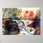 PMACarlson Buttermilk Falls, Sunset Poster