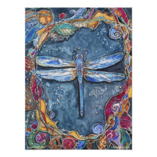 PMACarlson Copper Dragonfly Poster