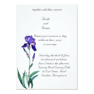 PMACarlson  Elegant Iris Wedding Invitation