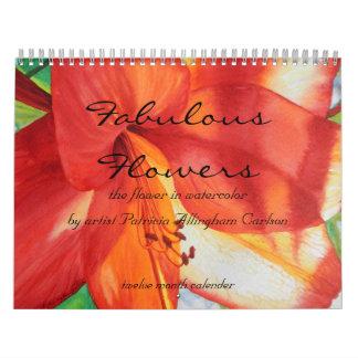PMACarlson Fabulous Flowers Calender Calendar