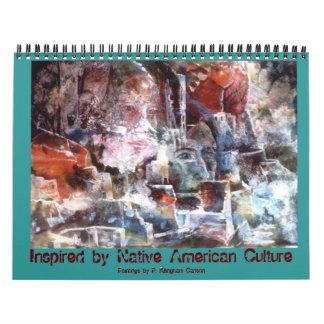 PMACarlson inspiró por la cría de nativo americano Calendarios De Pared