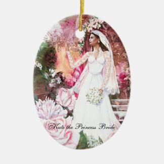 PMACarlson Kate la princesa Bride Ornament Adorno Navideño Ovalado De Cerámica