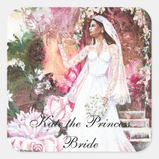 PMACarlson Kate la princesa Bride Pegatina Cuadrada