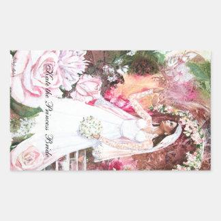 PMACarlson Kate la princesa Bride Sticker Pegatina Rectangular