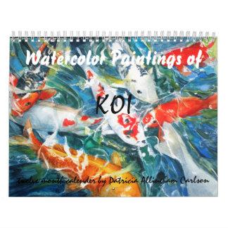 PMACarlson Koi Watercolor Calender Wall Calendars