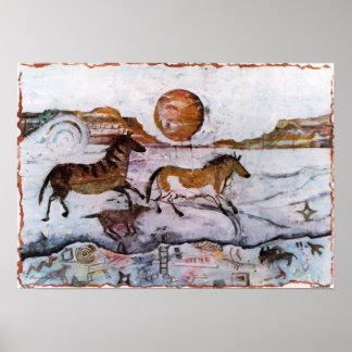 PMACarlson  Petroglyphs II Poster