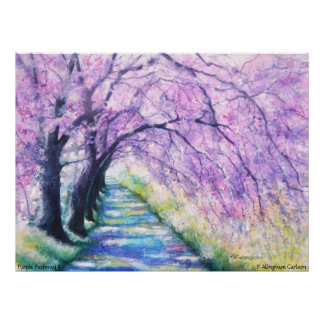 PMACarlson Purple Pathway II Poster