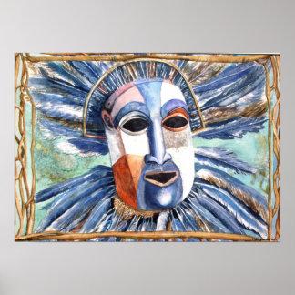 PMACarlson Rain Mask Poster