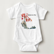 PMACarlson Red Maple Bonsai Baby Wedding Party t s Baby Bodysuit
