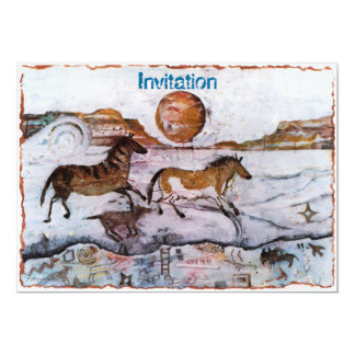 "PMACarlson Running Horses Invitation 5"" X 7"" Invitation Card"