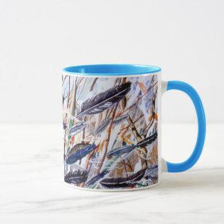 PMACarlson  Turquoise Feathers Mug