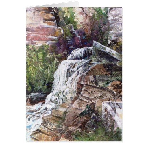 PMACarlson  Waterfall at Robert Treman SP Card
