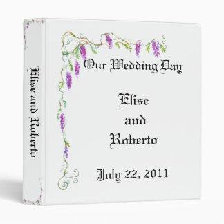 PMACarlson Wisteria Wedding Album Binder