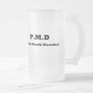 PMD 16 OZ FROSTED GLASS BEER MUG