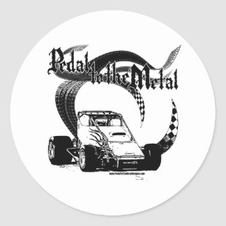 PMD-Pav_Blk_NoBkd Classic Round Sticker