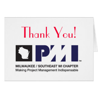 PMI Logo Print Quality, Thank You! Greeting Cards