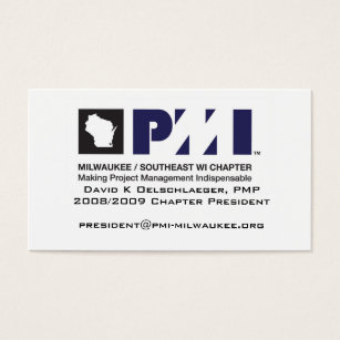 Milwaukee wisconsin business cards templates zazzle pmi milwaukee biz card colourmoves