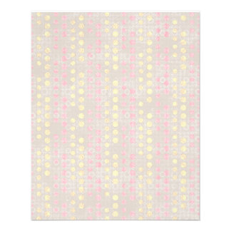 PMPD PINK YELLOW POLKADOT PATTERN MOM SOFT PASTELS PERSONALIZED FLYER