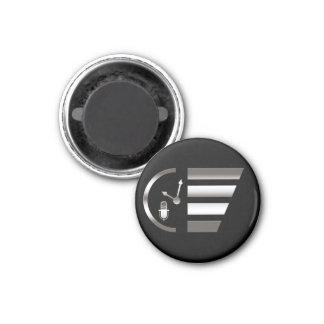 PMRP Chrome Mini-Logo Magnet — Small, Round
