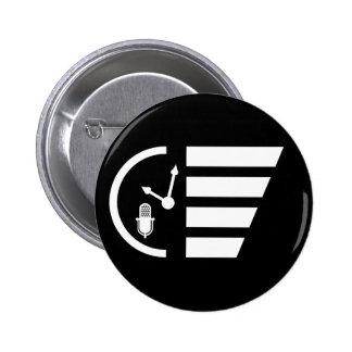 PMRP White Mini-Logo Button — Standard, Round