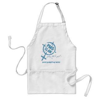 PMS Apron- Blue Logo