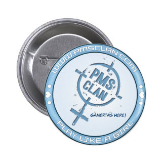 PMS Button- Blue Logo 2 Pinback Button