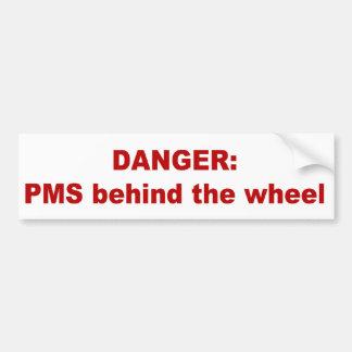 PMS detrás de la rueda Pegatina Para Auto