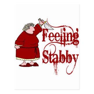 PMS divertido Stabby Tarjetas Postales