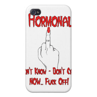 PMS Funny Hormonal Case For iPhone 4