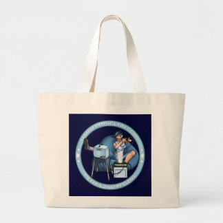 PMS Handbag- Pandora's Box Blue 2 Large Tote Bag