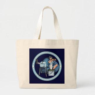 PMS Handbag- Pandora's Box Blue 2 Large Tote Bag