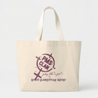 PMS Handbag- Purple Logo Large Tote Bag