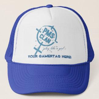 PMS Hat- Blue Logo Trucker Hat