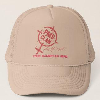 PMS Hat- Pink Logo Trucker Hat